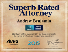 AVVO Superb Rated Attorney